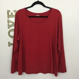 LAND'S END SHAPED FIT SCOOP NECK TOP